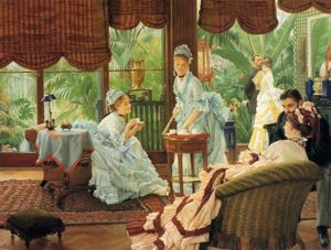 James Jacques Joseph Tissot - In the Conservatory (also known as The Rivals)
