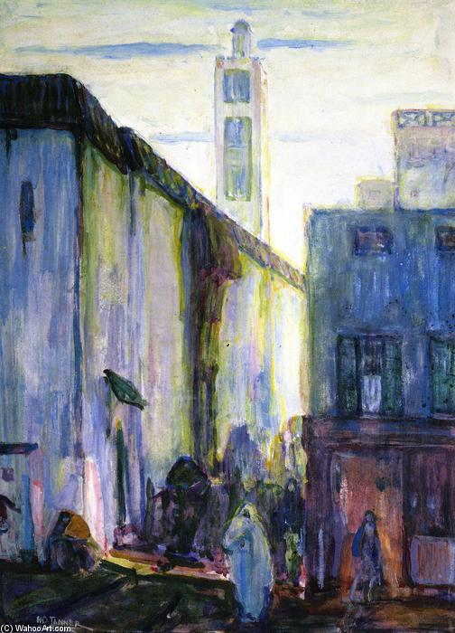 In Constantine, Watercolour by Henry Ossawa Tanner (1859-1937, United States)