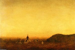 Ralph Albert Blakelock - Indian Camp
