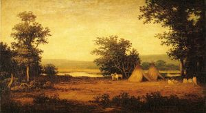 Ralph Albert Blakelock - Indian Encampment on the James River, North Dakota