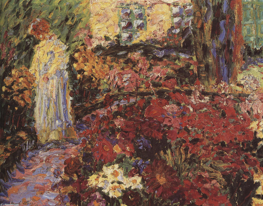 In the Flower Garden, 1907 by Emile Nolde (1867-1956, Germany) | Oil Painting | ArtsDot.com