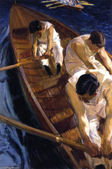 In the Rowboat, Oil On Canvas by Joaquin Sorolla Y Bastida (1863-1923, Spain)