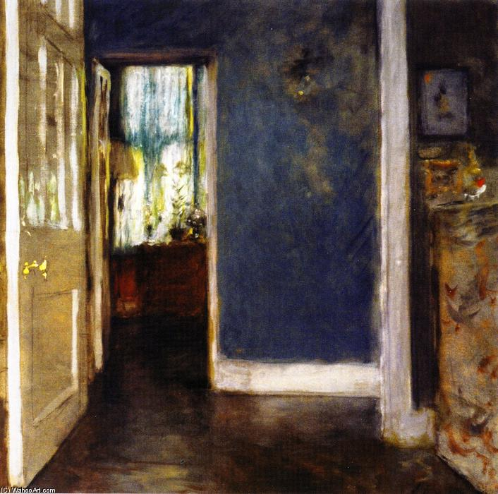An Interior (also known as The Green Window Curtain), Oil On Canvas by William Merritt Chase (1849-1916, United States)