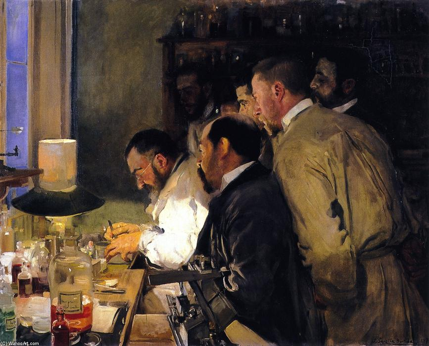 An Investigation, Doctor Samarro in His Laboratory, Oil On Canvas by Joaquin Sorolla Y Bastida (1863-1923, Spain)