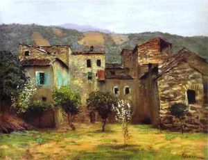 Isaak Ilyich Levitan - In the Vicinity of Bordiguera, in the North of Italy