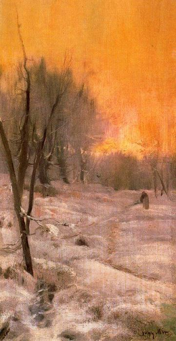 Invierno by Joaquin Mir Trinxet (1873-1940, Spain)