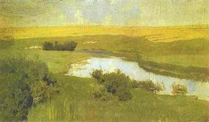Isaak Ilyich Levitan - The Istra River. Study