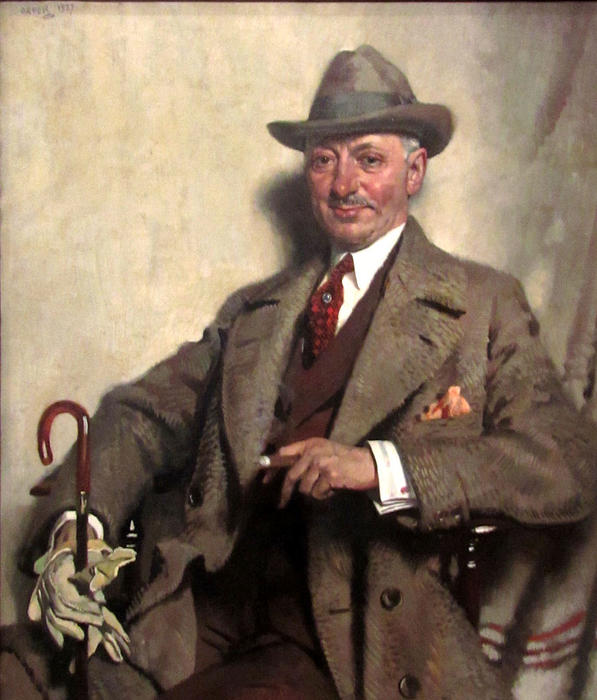 Jacob Epstein, 1927 by William Newenham Montague Orpen  (order Fine Art Hand Painted Oil Painting William Newenham Montague Orpen)