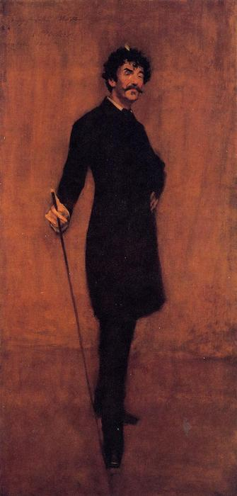 James Abbott McNeil Whistler, 1885 by William Merritt Chase (1849-1916, United States) | ArtsDot.com