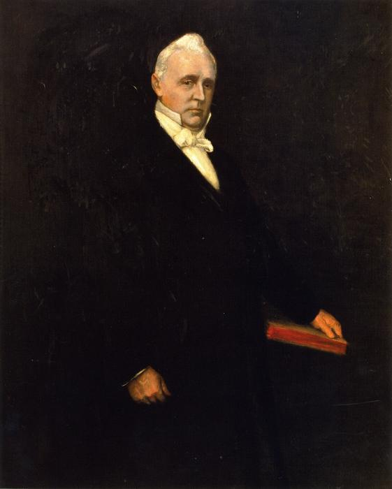 James Buchanan, Oil On Canvas by William Merritt Chase (1849-1916, United States)