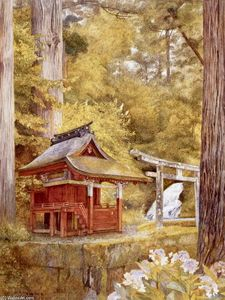 Henry Roderick Newman - Japanese Pagoda in the Woods