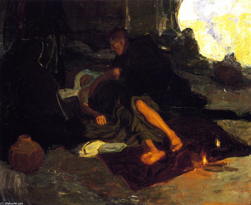 Job and His Three Friends, Oil On Canvas by Henry Ossawa Tanner (1859-1937, United States)
