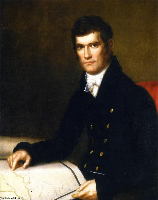 John C. Calhoun, Secretary of War, Oil On Canvas by Charles Bird King (1785-1862, United States)