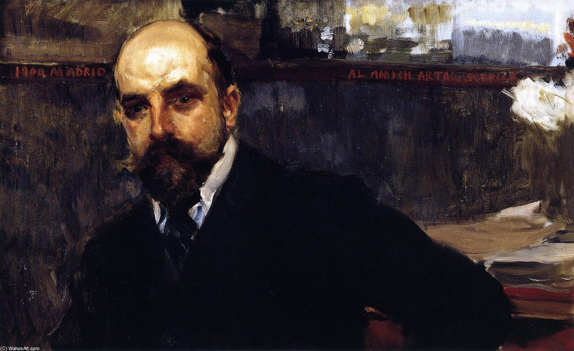 Jose Artal, Oil On Canvas by Joaquin Sorolla Y Bastida (1863-1923, Spain)