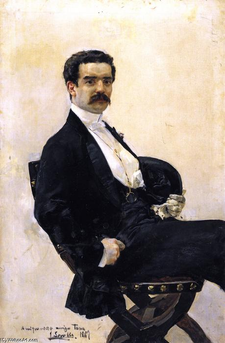 Juan Antonio Garcia del Castillo, Oil On Canvas by Joaquin Sorolla Y Bastida (1863-1923, Spain)