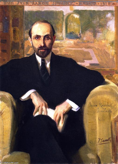 Juan Ramón Jiménez, Oil On Canvas by Joaquin Sorolla Y Bastida (1863-1923, Spain)