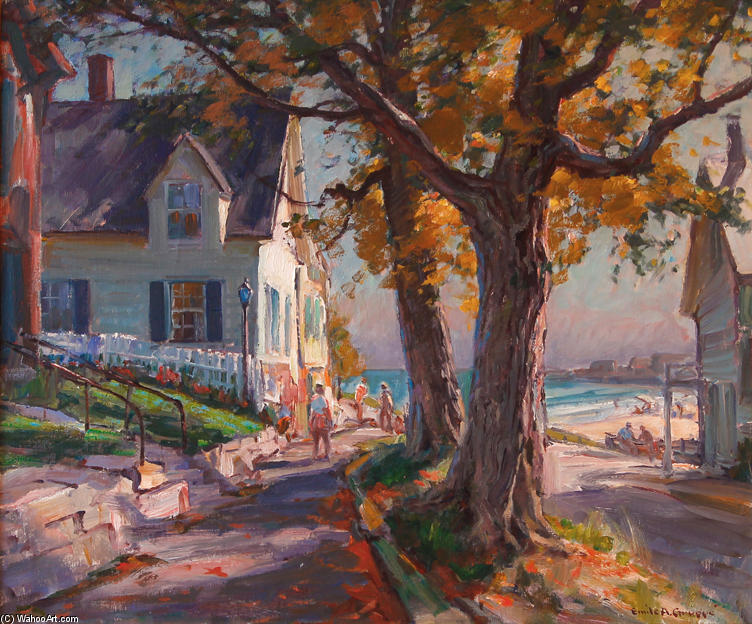 King Street, Rockport by Emile Albert Gruppé (1896-1978, United States)