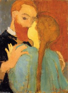 Jean Edouard Vuillard - The Kiss