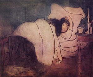 Jozsef Rippl Ronai - Lady in bed