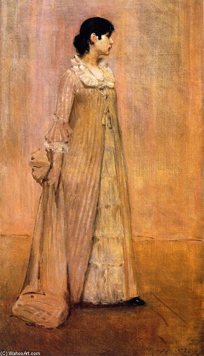 Lady in Pink (also known as The Artist's Wife), Oil On Canvas by William Merritt Chase (1849-1916, United States)