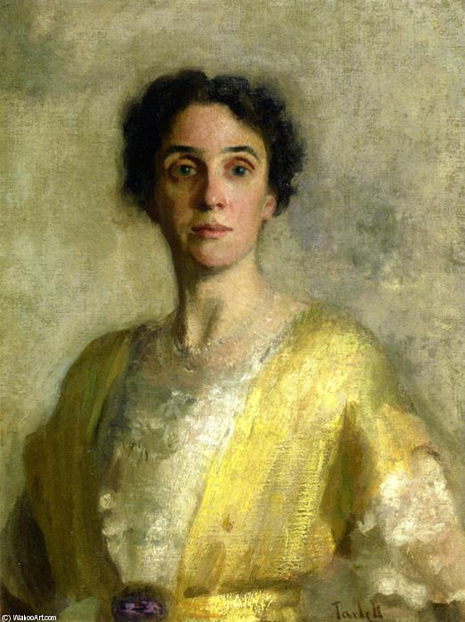 Lady in Yellow (Mrs. Codman), Oil On Canvas by Edmund Charles Tarbell (1862-1938, United States)