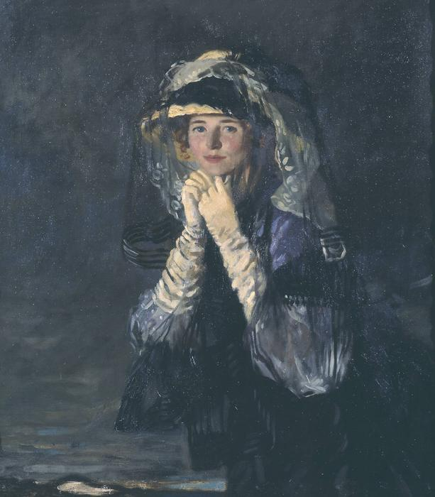 Lady Orpen, 1907 by William Newenham Montague Orpen (1878-1931, Ireland)