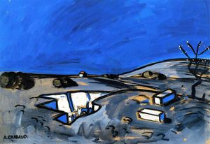Auguste Chabaud - Landscape (Blue)