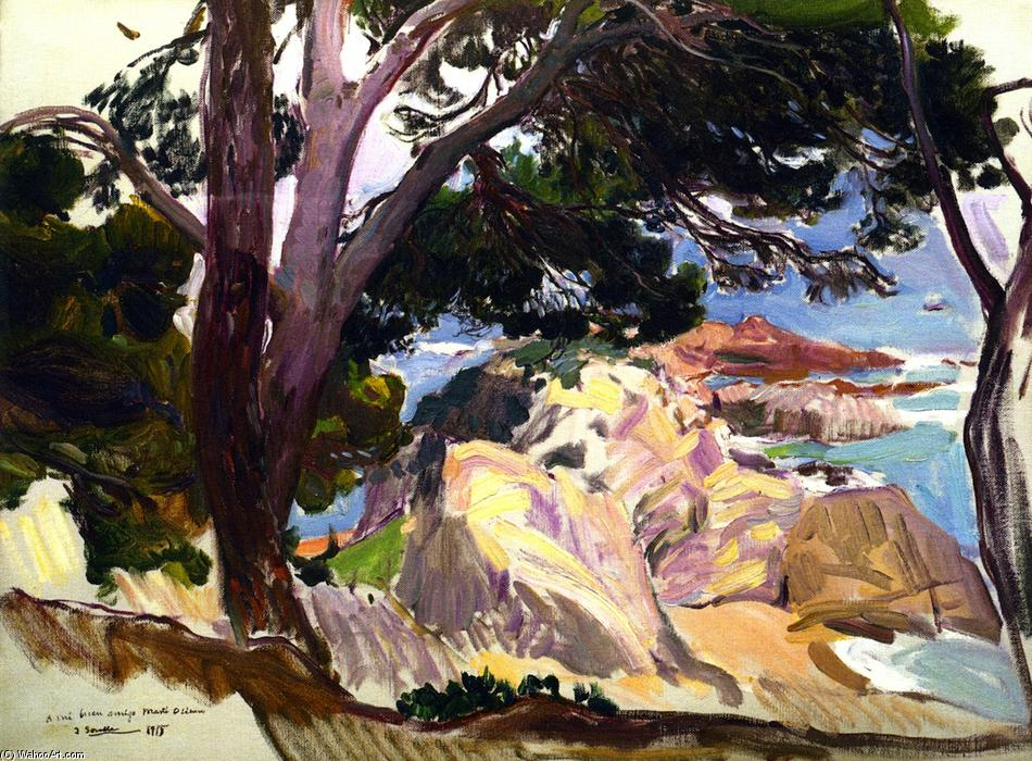 Landscape of the Cove at Santa Cristina, Lloret del Mar, Oil On Canvas by Joaquin Sorolla Y Bastida (1863-1923, Spain)
