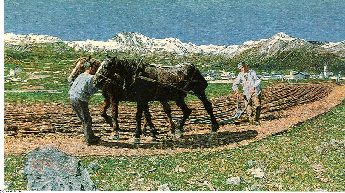 L?aratura, 1890 by Giovanni Segantini (1858-1899, Austria) | Paintings Reproductions Giovanni Segantini | ArtsDot.com