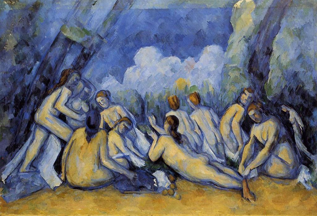 The Large Bathers, 1900 by Paul Cezanne (1839-1906, France) | Painting Copy | ArtsDot.com