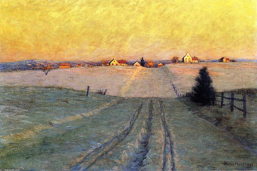 Late Winter Afternoon, Oil On Canvas by Lowell Birge Harrison (1854-1929, United States)