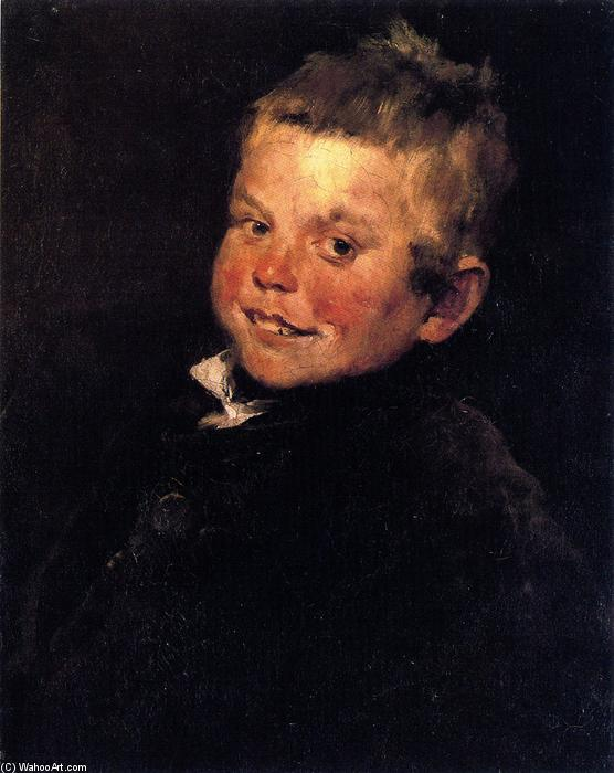 Laughing Boy, Oil On Canvas by William Merritt Chase (1849-1916, United States)