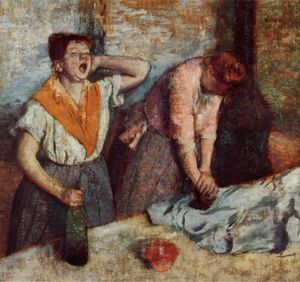Edgar Degas - Laundry Girls Ironing