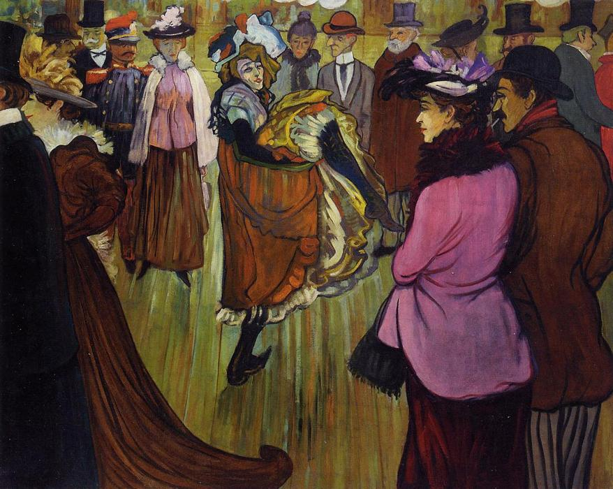 Le Moulin Rouge, Oil On Canvas by Henri De Toulouse Lautrec (1864-1901, France)