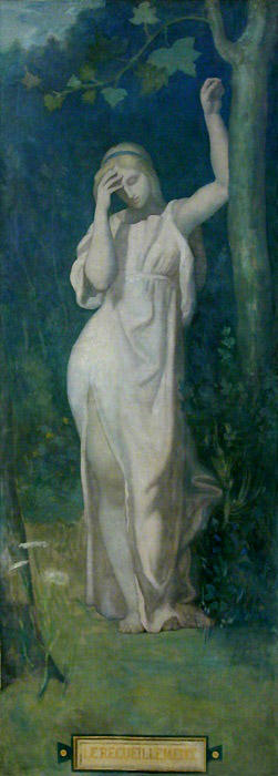 Le Recueillement, 1866 by Pierre Puvis De Chavannes (1824-1898, France)