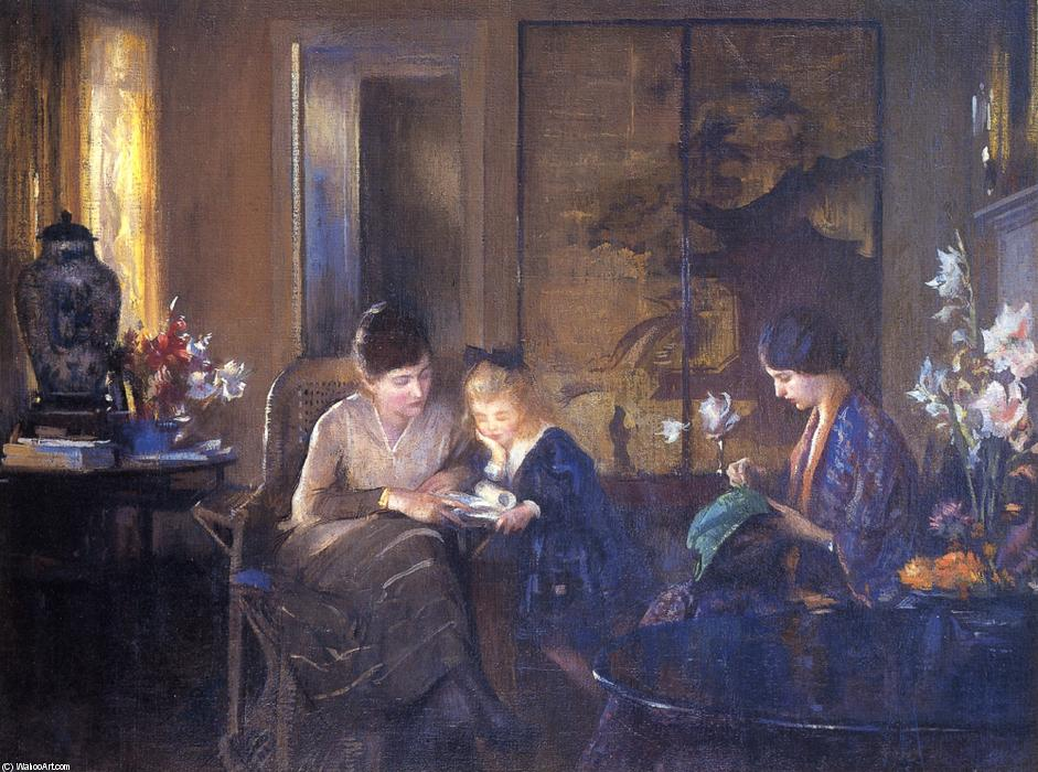 The Lesson, 1924 by Edmund Charles Tarbell (1862-1938, United States) | Art Reproduction | ArtsDot.com