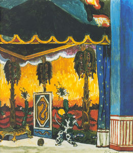 Alexandre Benois - Blackamoor-s Chamber. Fragment. Set Design