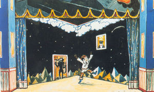 Alexandre Benois - Petrushka-s Chamber. Set Design