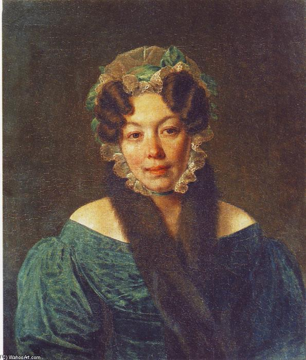 Portrait of M. M. Philosophova, Oil On Canvas by Alexey Venetsianov (1780-1847, Russia)