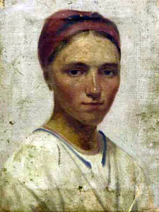 Alexey Venetsianov - Portrait of a Peasant Girl