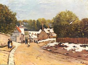 Alfred Sisley - First Snow in Louveciennes