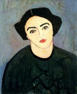 André Derain - A woman with green dress