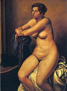 André Derain - The nude female near the cat