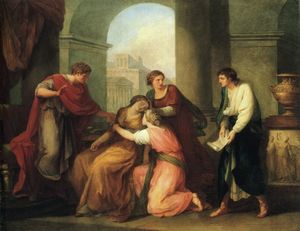 Angelica Kauffman (Maria Anna Angelika) - Virgil Reading the Aeneid to Augustus and Octavia