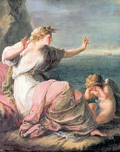 Buy Museum Art Reproductions | Ariadne left on the island of Naxos by Angelica Kauffman (Maria Anna Angelika) | ArtsDot.com