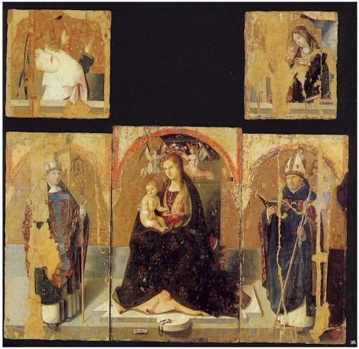 Polyptych with St. Gregory, Tempera by Antonello Di Giovanni Di Antonio (Antonello Da Messina) (1430-1479, Italy)