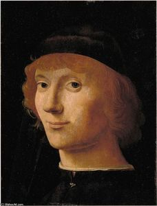 Antonello Di Giovanni Di Antonio (Antonello Da Messina) - Portrait of a Man
