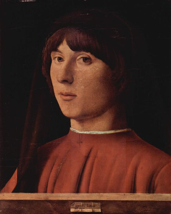 Portrait of a Man, Oil by Antonello Di Giovanni Di Antonio (Antonello Da Messina) (1430-1479, Italy)