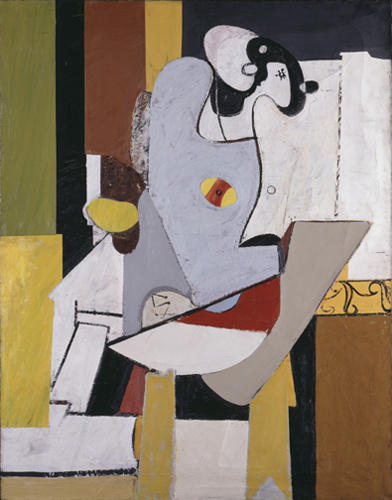 Blue Figure in a Chair, Oil On Canvas by Arshile Gorky (1904-1948, Turkey)