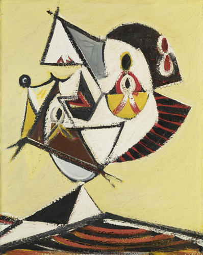 Portrait (Head), Oil On Canvas by Arshile Gorky (1904-1948, Turkey)